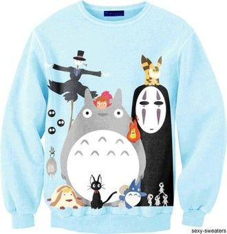 sweater my neighbor totoro spirited away howl's moving castle nausica princess mononoke gaonasi monster
