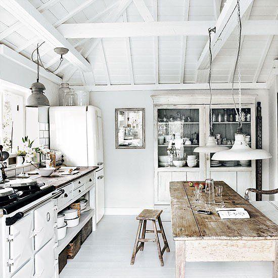 rustic white interiors | Rustic white interiors with seaside theme