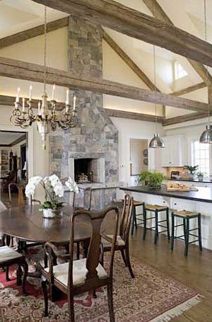 A Tuscan Vacation Made Me Fall In Love W This Romantic Kitchen Feature FireplacesStone FireplacesFireplace IdeasInset