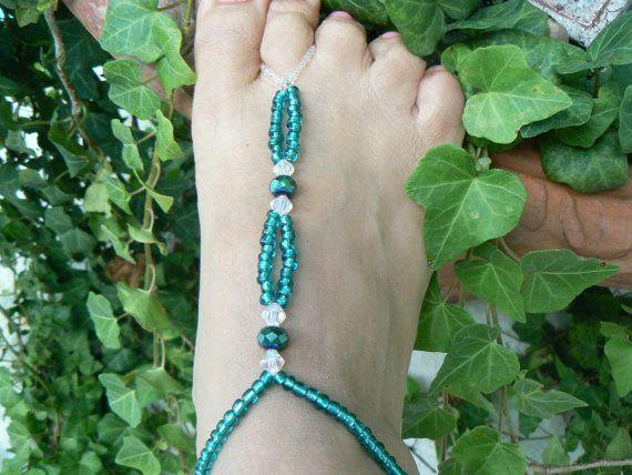 Prachtige beaded voet sieraden.  Prachtig door Justbecausegiftsbtq