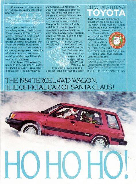 "1984 Toyota Tercel 4WD Wagon SR5 (USA) | by IFHP97--we owned this vehicle in silver, it was a delight to drive, had a 6 speed transmission (including ""extra low gear""--we (then a family of four) took a 10,000 mile coast to coast and return trip in it in 1985 and drove it 10s of thousands of additional miles on other long distance trips"