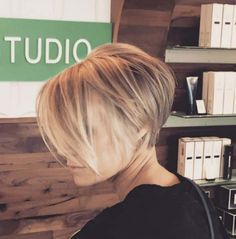 short hair-short hair cuts for women-short hair styles-short hair cuts- blonde-dark roots- balayage- pixie cut- long bangs