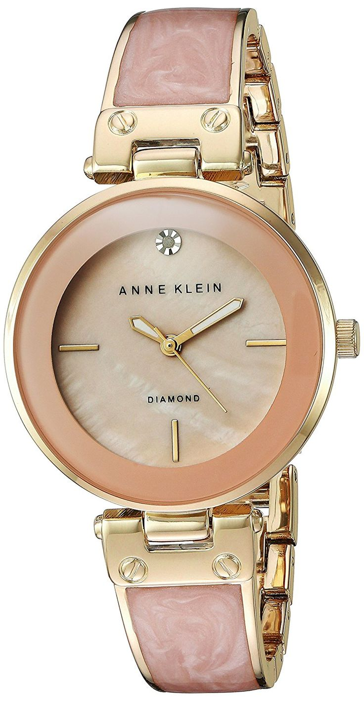 Anne Klein Women's Quartz Metal and Alloy Dress Watch, Color:Pink (Model: AK/2512LPGB) -- Find out more about the great watch at the image link.