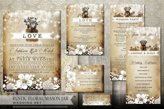 Hey, I found this really awesome Etsy listing at https://www.etsy.com/listing/191709019/mason-jar-wedding-invitation-stationery