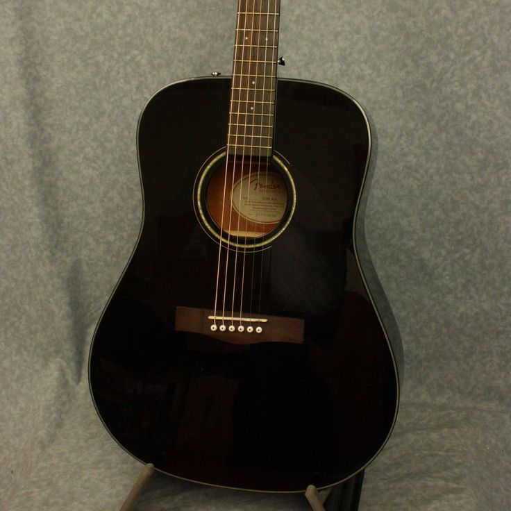 Fender CD-60BK Acoustic Guitar in Gloss Black Finish w/ Hard Shell Case