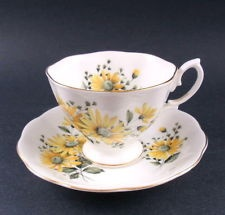 I have that one! Royal Albert YELLOW SUNFLOWERS Tea Cup & Saucer