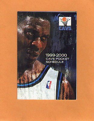 1999-2000 NBA BASKETBALL CLEVELAND CAVALIERS GAME POCKET SCHEDULE