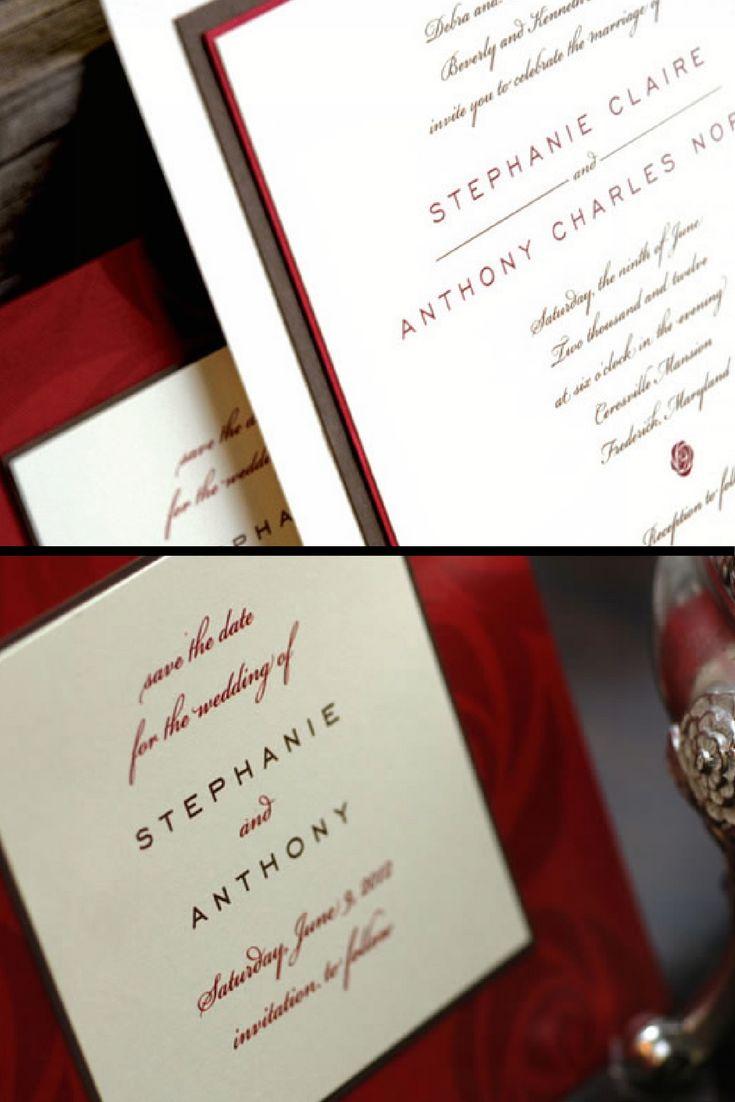 112 best Wedding Invitations images on Pinterest   Bridal ...