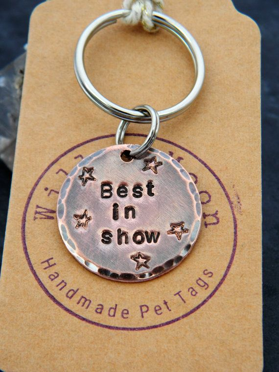 Handmade Custom Dog Tag approx 25mm dia/Custom by BarkingMadTags