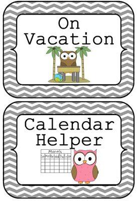 Owl Job Chart Printable- Free