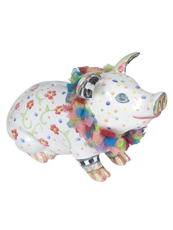 MacKenzie-Childs Ceramic Piggy Bank at London Jewelers!