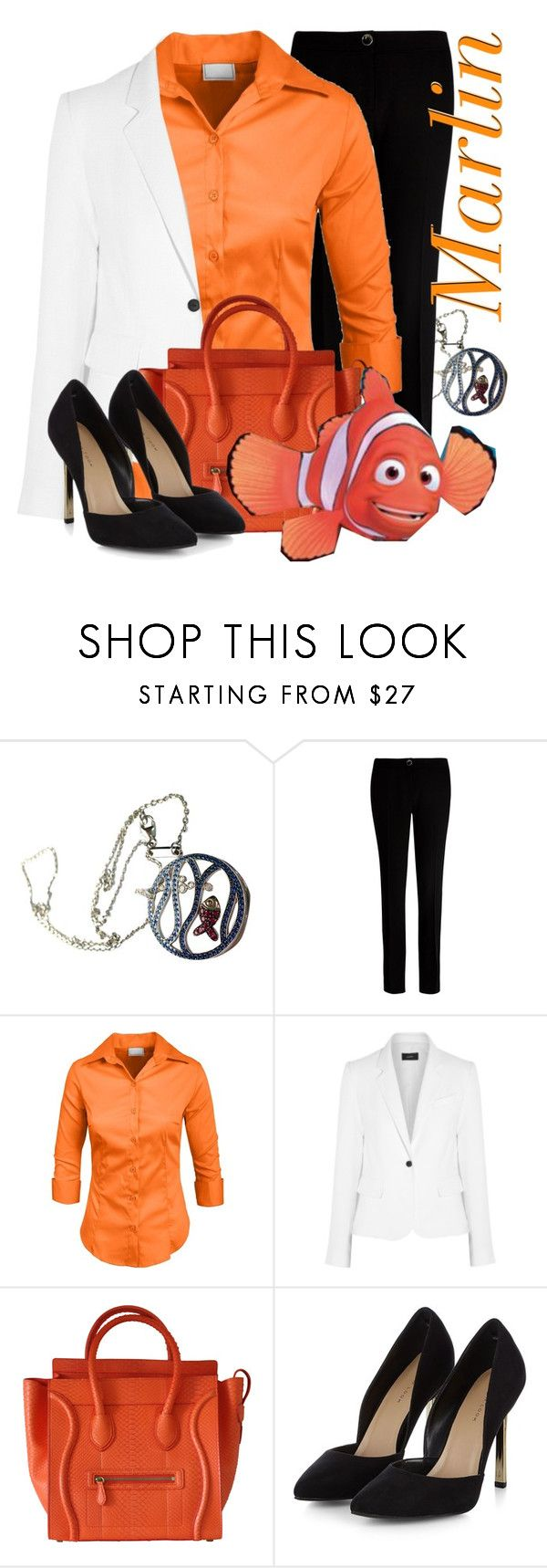 """""""Marlin (Finding Nemo)"""" by monica-diaz-1 ❤ liked on Polyvore featuring Chopard, Ted Baker, Joseph and CÉLINE"""