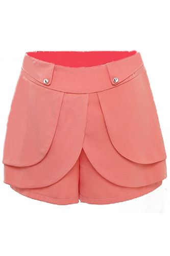 Throwback Monday: Bring Back The 1950s With These 13 Pieces #refinery29  http://www.refinery29.com/50s-fashion#slide5  SheInside Light Orange High Waist Cascading Ruffle Shorts, $21.64, available at SheInside.