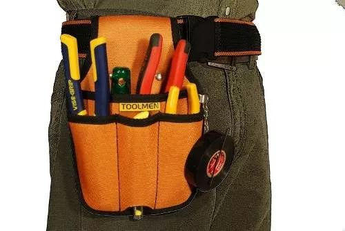 cartucheira porta ferramentas eletricista médio t23 toolmen