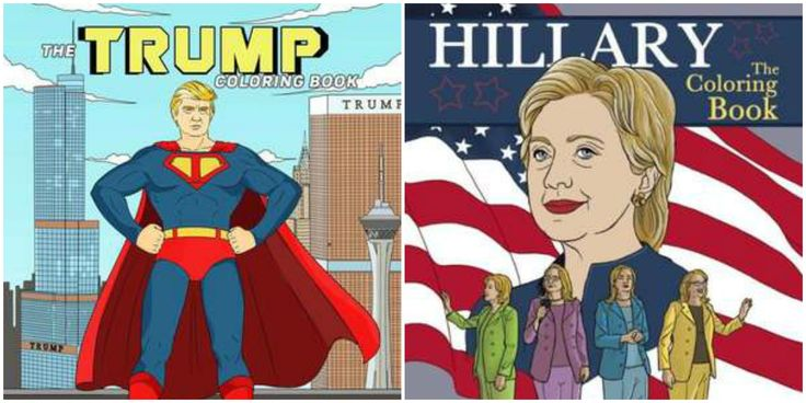 Trump Hillary Coloring Book