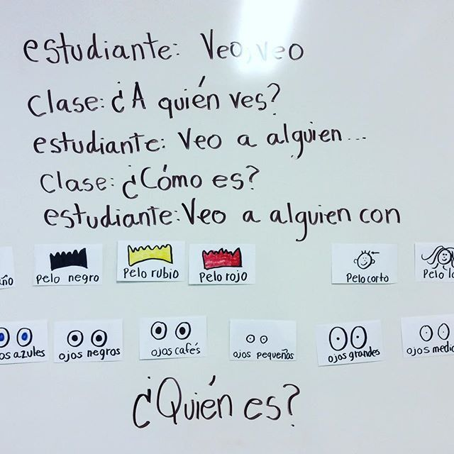 Warm up activity for second graders #teachersfollowteachers #spanishrocks #spanishteacher