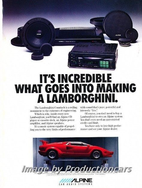 Nice Awesome 1989 Alpine Audio Lamborghini Countach Advertisement Print Art Car Ad J749 2017 2018 Check more at http://auto24.ga/blog/awesome-1989-alpine-audio-lamborghini-countach-advertisement-print-art-car-ad-j749-2017-2018/
