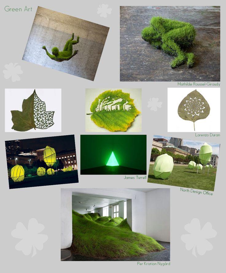 Green art van diverse kunstenaars http://www.artecomagazine.nl/artecomagazine_green_art.html