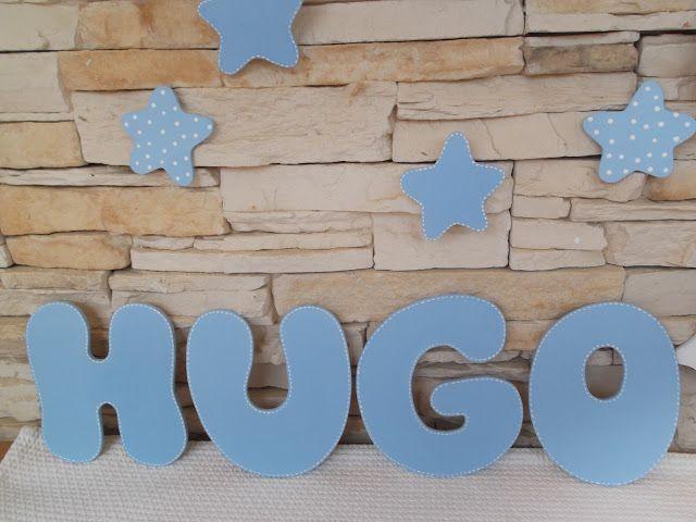 letras de madera para formar el nombre del bebe