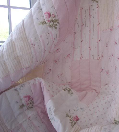 Shabby Chic Bedding, Shabby Chic Quilt, Shower Curtain, Pillows, Beach Cottage Bedding, Romantic Homes