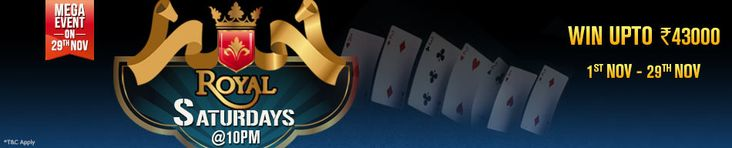 Adda52 Rummy | Royal Saturdays Rummy Tournaments for a Cash Prize of Rs.43,000