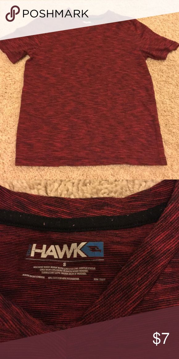 Tony Hawk V-Neck Tee Tony Hawk V-neck Tee, size small. Deep burgundy heathered color top. Excellent condition! Tony Hawk Shirts & Tops Tees - Short Sleeve