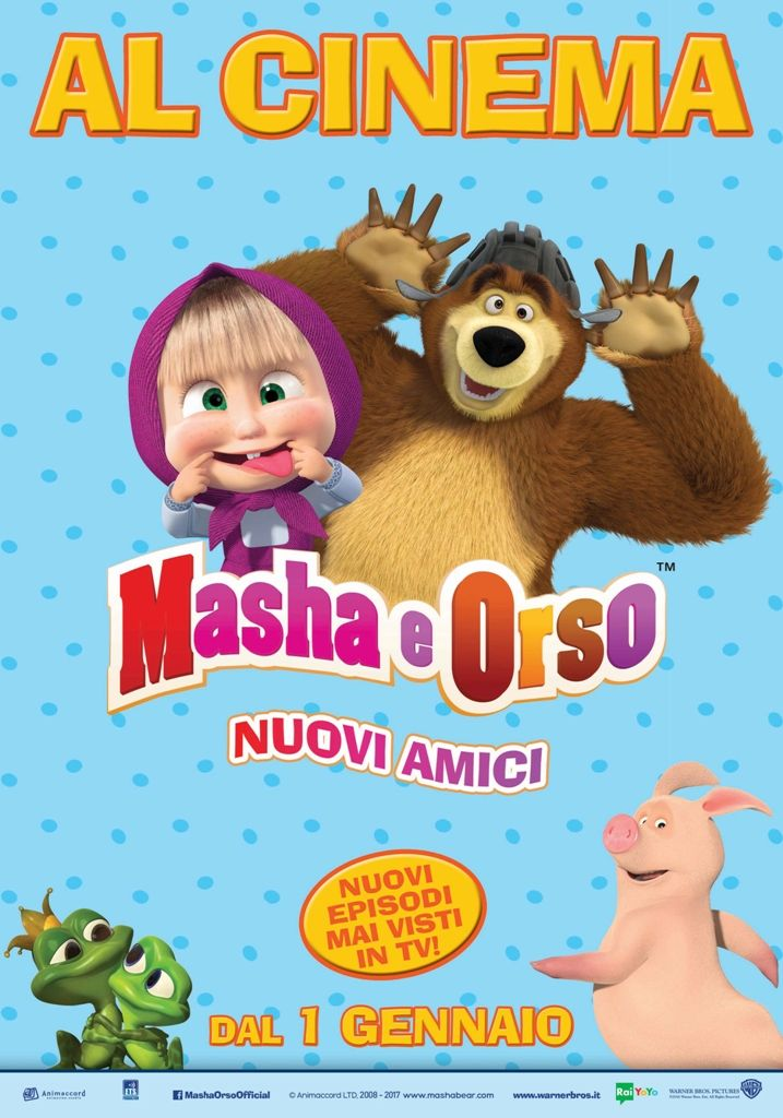 Masha e Orso Nuovi amici, il nuovo film di Masha e Orso, dal 1° gennaio 2017 al cinema.