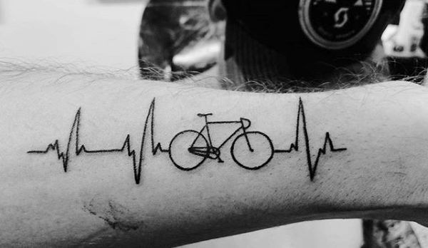 2017 trend Tattoo Trends - 70 Bicycle Tattoo Designs For Men - Masculine Cycling Ideas