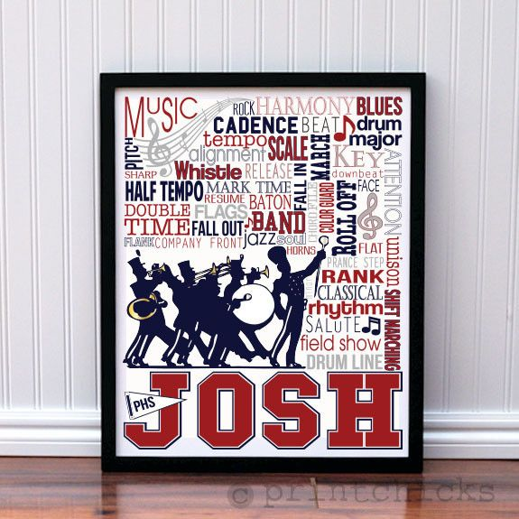Marching Band Custom Print - Makes a great gift!