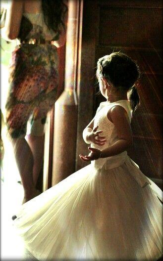 Miss Madeline full of grace! Wearing RYB cream pavlova skirt.