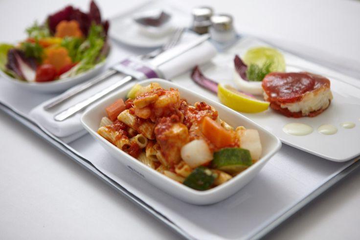 Thai Airways Business Class Meal