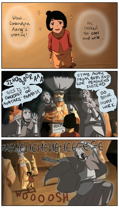 Avatar: the Legend of Korra / Aww, Aang would totally do something like this for his little granddaughter! (Those mischievous airbenders...)
