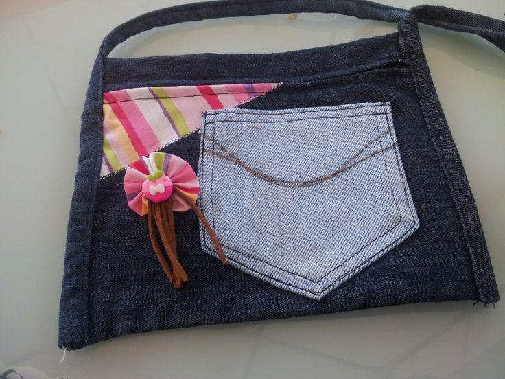 30 mejores im genes sobre bolsos de tela vaquera en - Como forrar un armario con tela ...
