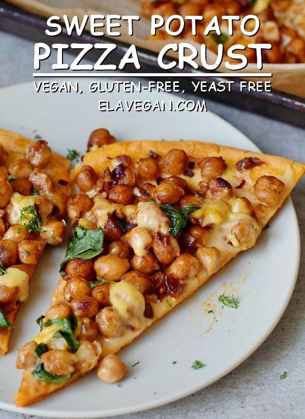 Masa de pizza de camote (sin gluten, sin levadura, vegana)