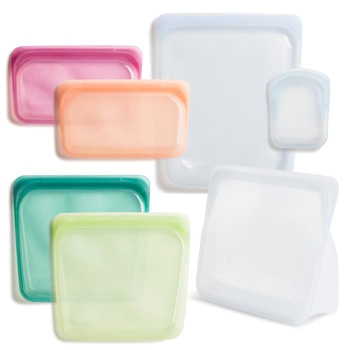 Reusable Silicone Bag Starter Kit In 2020 Stasher Plastic Free Food Storage Bags
