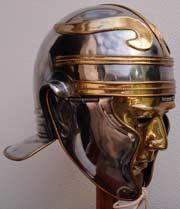 Roman cavalry helmet, 1st C, found in Scotland at Newstead. Roman Scotland website.