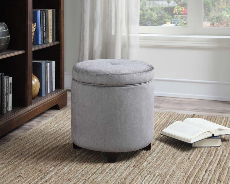 Mia Small Round Storage Ottoman