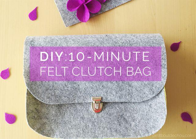 DIY: 10-minute Felt Clutch Bag | Petit Bout de Chou