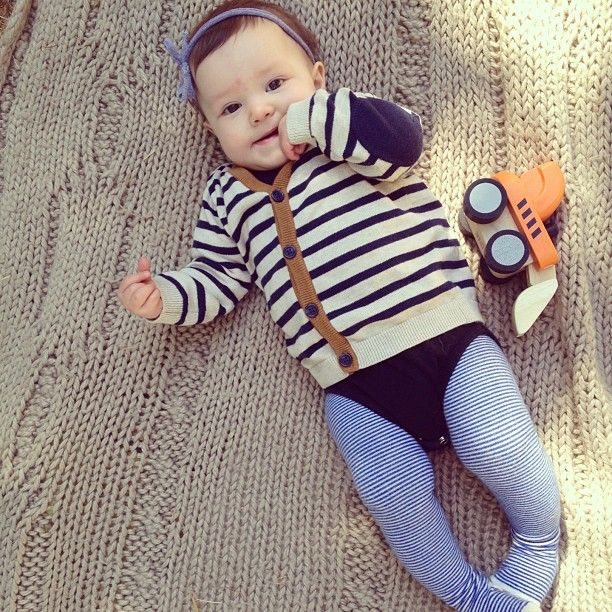 tips-for-dressing-a-stylish-baby-girl; look in the boys section for cardigans and neutrals