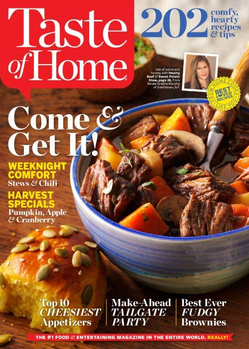 This recipe round-up includes the dishes from Taste of Home that were made in the Taking On Magazines kitchen during September 2015.