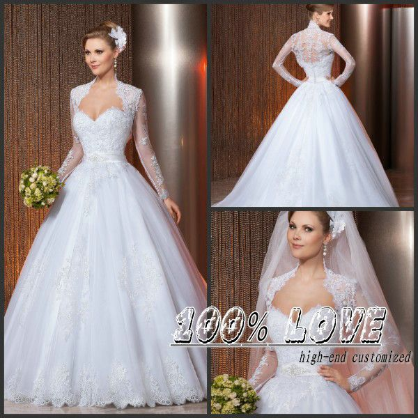 Find More Wedding Dresses Information about Free Shipping Best Seller Long Sleeve Lace Appliqued Jacket Shining Sequins Muslim Hijab Wedding Dress,High Quality hijab pattern,China hijab set Suppliers, Cheap hijab bride from 100% Love Wedding Dress & Evening Dress Factory on Aliexpress.com