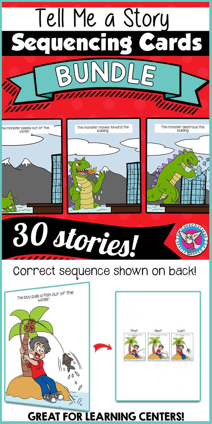 Big, full color pictures and simple events make these ideal for young learners! 30 stories containing 3 or 4 Story Cards each.