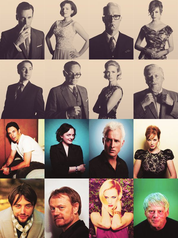 The cast of Mad Men - in and out of character.