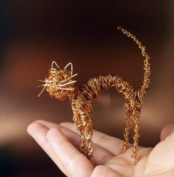 Copper Wire Cat