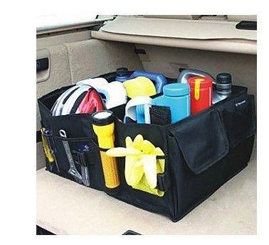 Handige kofferbak organizer. Makkelijk op te vouwen wanneer je 'm niet gebruikt of nodig hebt.