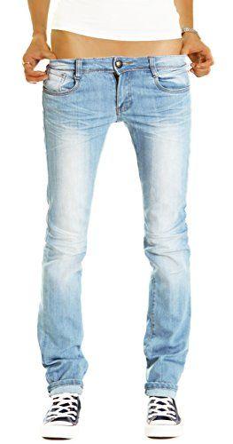 Bestyledberlin Damen Jeans Hosen, gerades Bein / Hüftjeans j187p