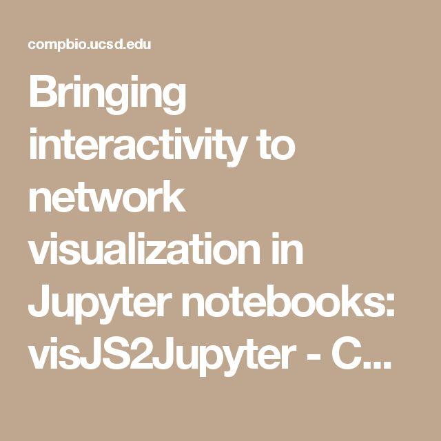 Bringing interactivity to network visualization in Jupyter notebooks: visJS2Jupyter - Center for Computational Biology & Bioinformatics