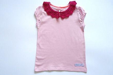 T-shirt da bambina, in puro cotone - taglia 4-5 anni  : Moda bambina di mompatchwork