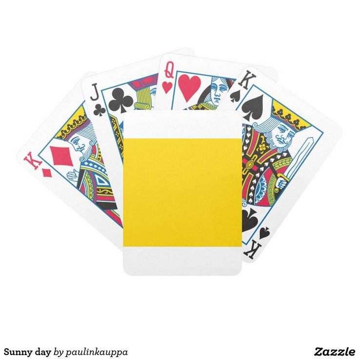 Sunny day bicycle playing cards