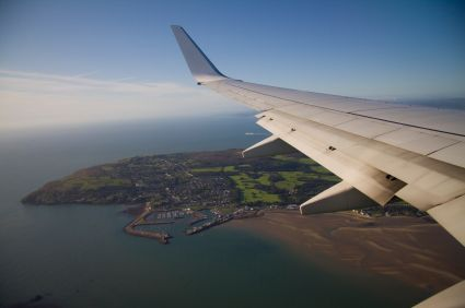 Flying in over Howth Head on the approach to Dublin Airport